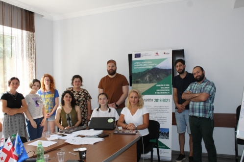 With the EU support trainings on Digital Marketing was organized for the winners of the second round of Rural Development grant competition in Khulo municipality